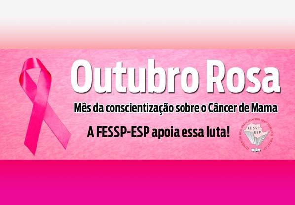 """Diretora da Mulher da Fess-Esp abraça a campanha """"Outubro Rosa"""""""