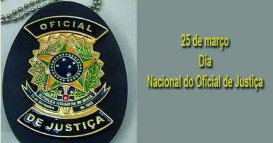 25 de Março – Dia Nacional do Oficial de Justiça