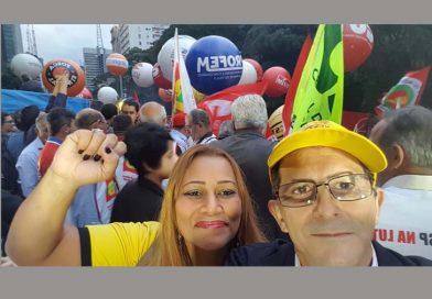 Diretores e filiados da Fessp-Esp participam do manifesto contra a reforma da Previdência, na Paulista
