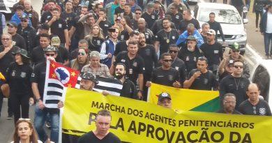 Diretores da Fessp-Esp participam da 1ª Marcha Nacional dos Agentes Penitenciários em Brasília