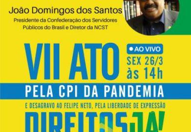 João Domingos representa CSPB e NCST em Live pela CPI da Pandemia