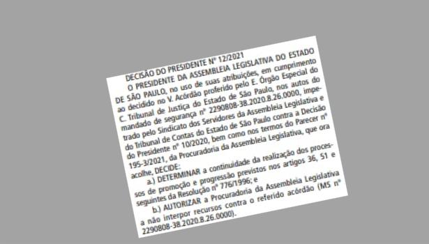 Vitória do Sindalesp garante promoção e progressão dos servidores da Alesp