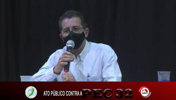 Sindicalistas denunciam prejuízos da PEC 32 em ato na cidade de Tupã
